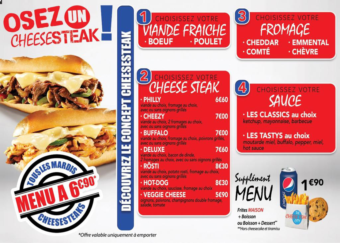 CONCEPT THE CHEESE STEAK CITY